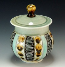 porcelain jar, soda fired