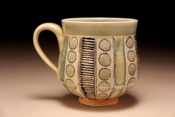porclain mug, soda fired